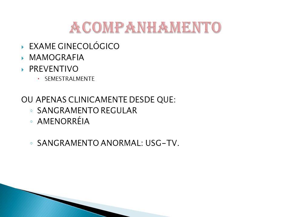 ACOMPANHAMENTO EXAME GINECOLÓGICO MAMOGRAFIA PREVENTIVO