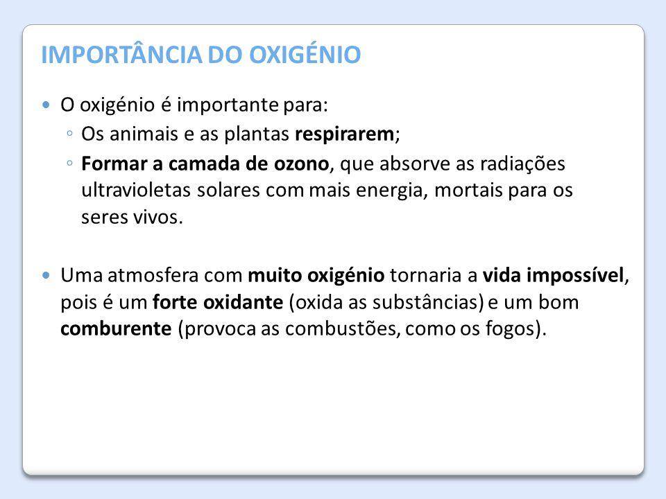 IMPORTÂNCIA DO OXIGÉNIO