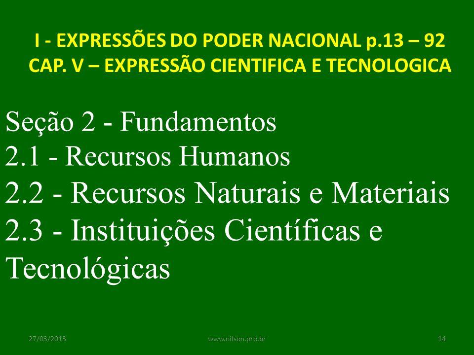 2.2 - Recursos Naturais e Materiais