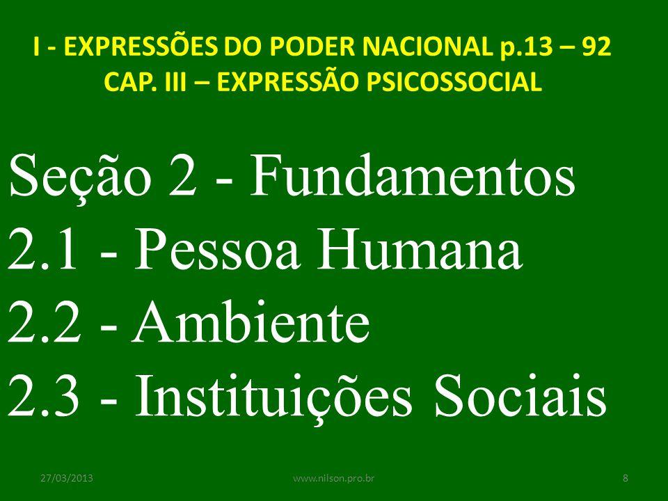 2.3 - Instituições Sociais