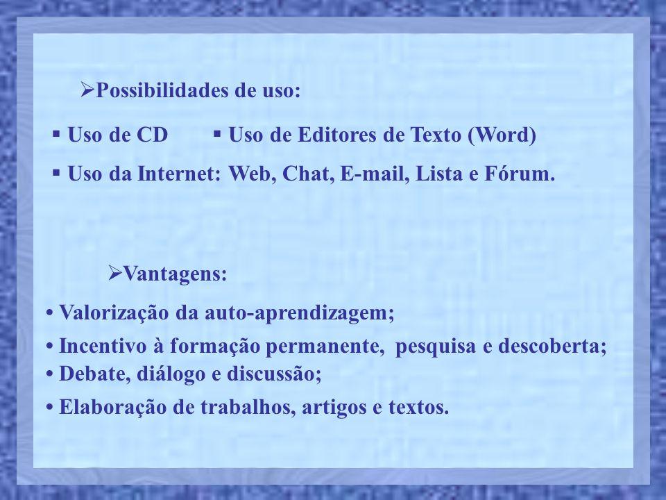 Possibilidades de uso: