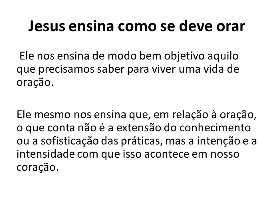 Jesus ensina como se deve orar