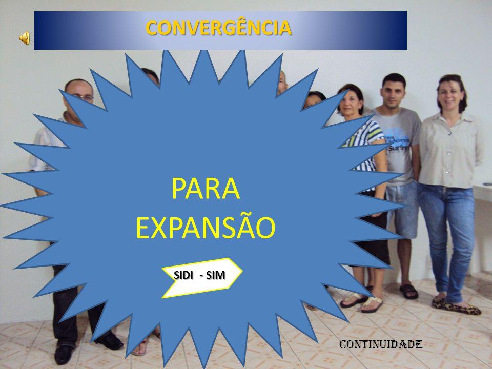 CONVERGÊNCIA PARA EXPANSÃO SIDI - SIM CONTINUIDADE