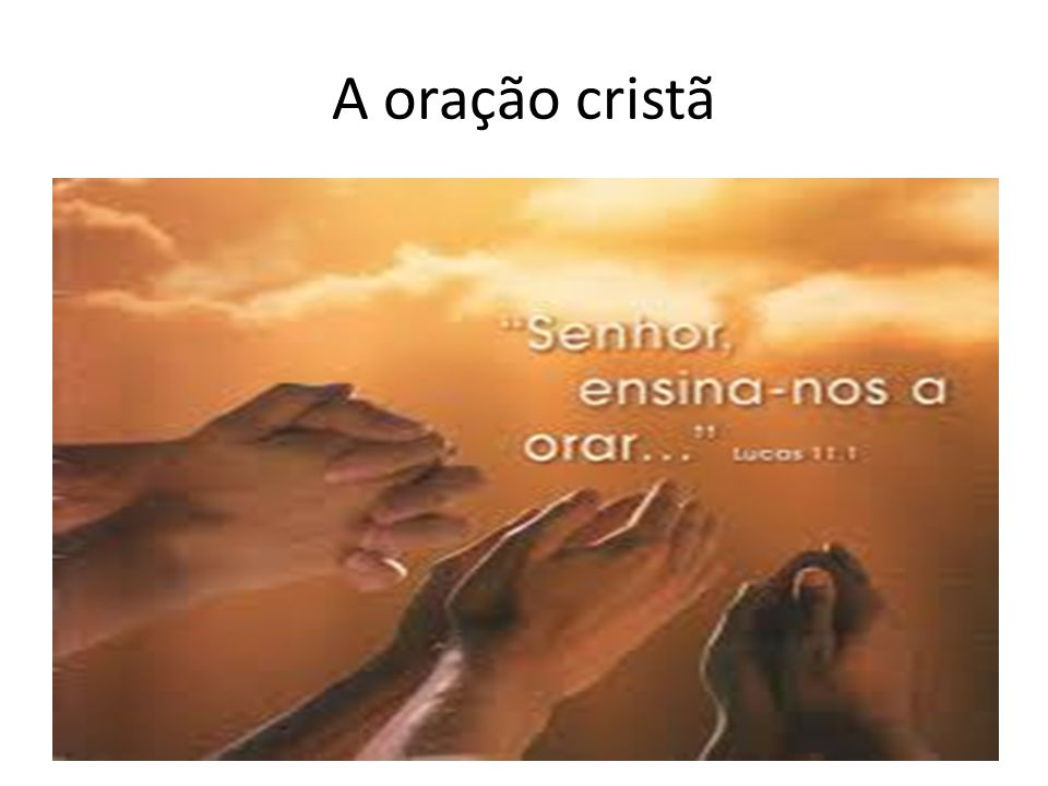 A oração cristã