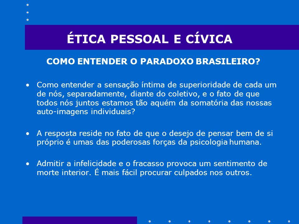 COMO ENTENDER O PARADOXO BRASILEIRO