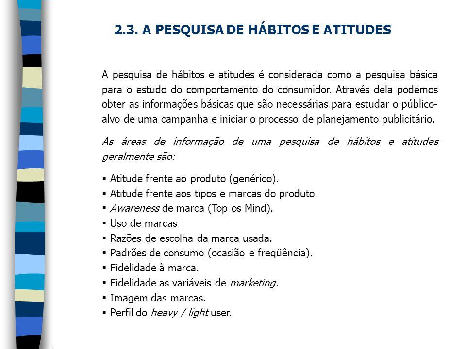 2.3. A PESQUISA DE HÁBITOS E ATITUDES