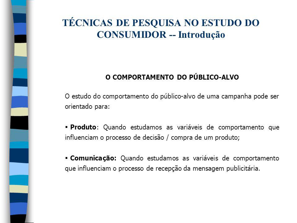 TÉCNICAS DE PESQUISA NO ESTUDO DO CONSUMIDOR -- Introdução
