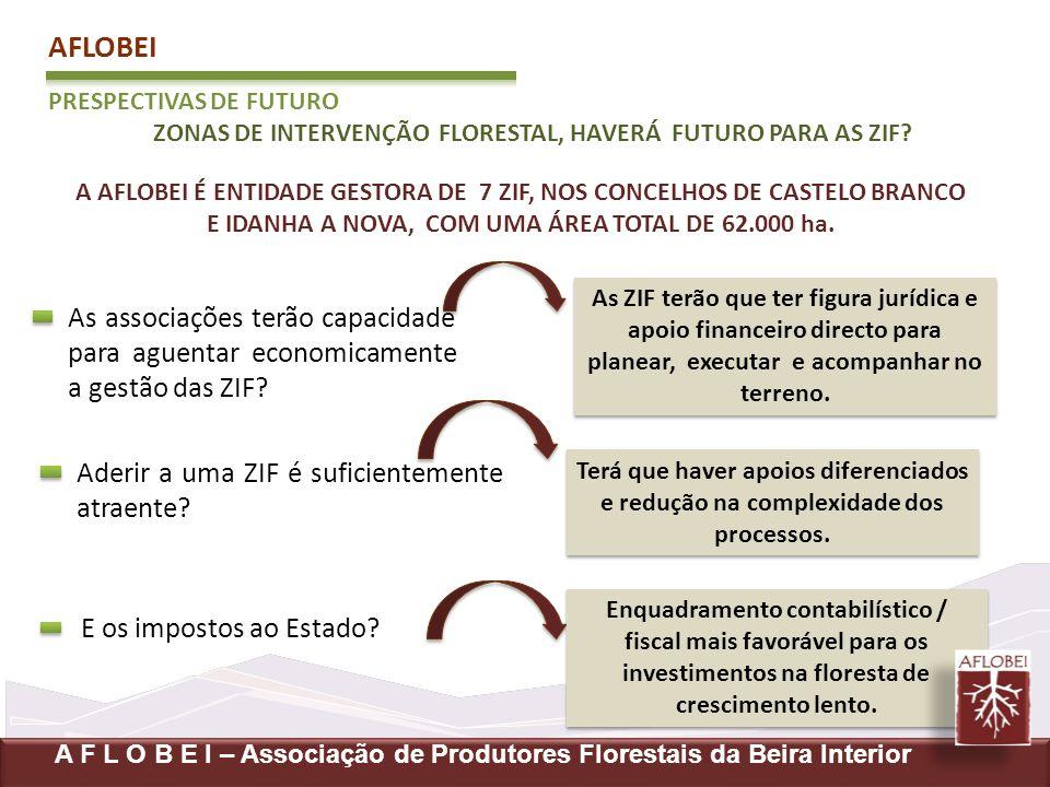 AFLOBEI PRESPECTIVAS DE FUTURO. ZONAS DE INTERVENÇÃO FLORESTAL, HAVERÁ FUTURO PARA AS ZIF