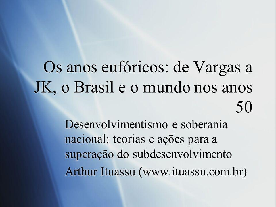 Os anos eufóricos: de Vargas a JK, o Brasil e o mundo nos anos 50
