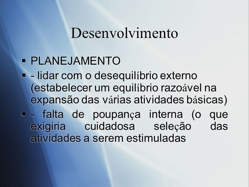 Desenvolvimento PLANEJAMENTO