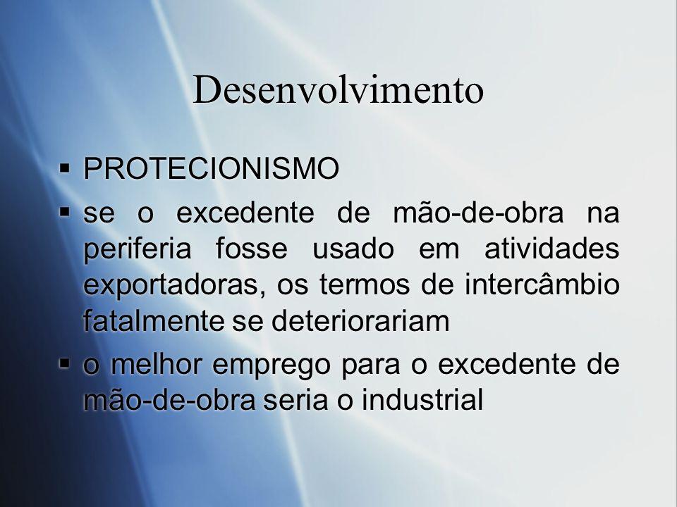 Desenvolvimento PROTECIONISMO