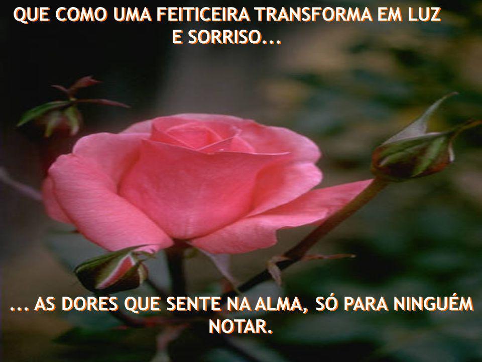 QUE COMO UMA FEITICEIRA TRANSFORMA EM LUZ E SORRISO...