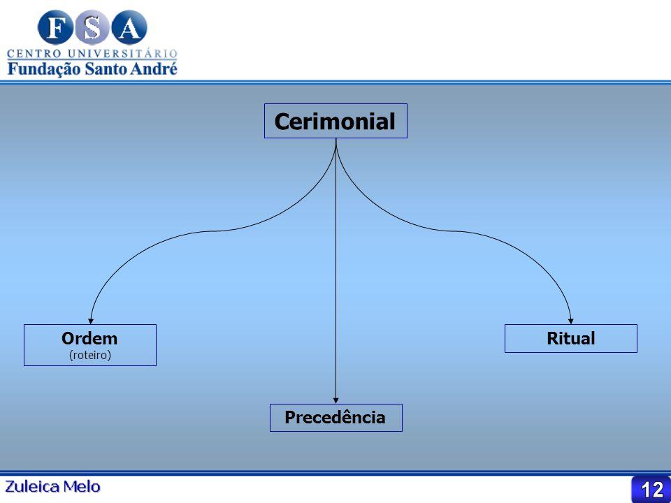 Cerimonial Ordem (roteiro) Ritual Precedência 12