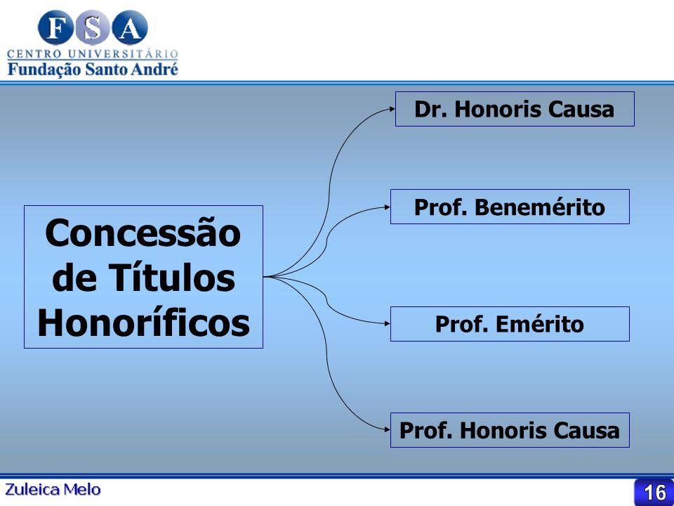 Concessão de Títulos Honoríficos