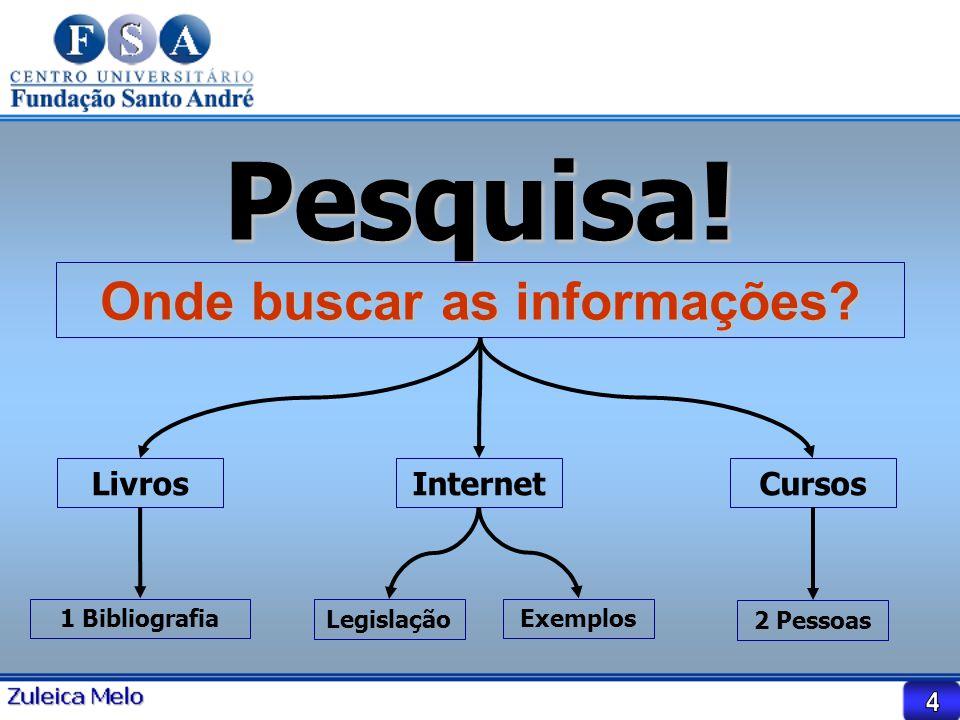 Onde buscar as informações