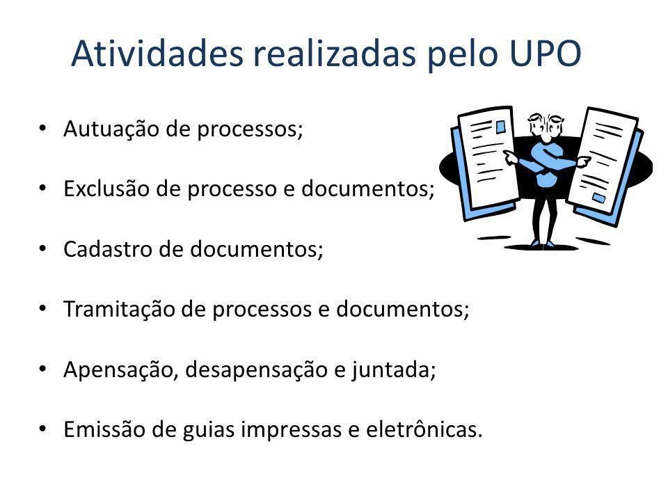 Atividades realizadas pelo UPO