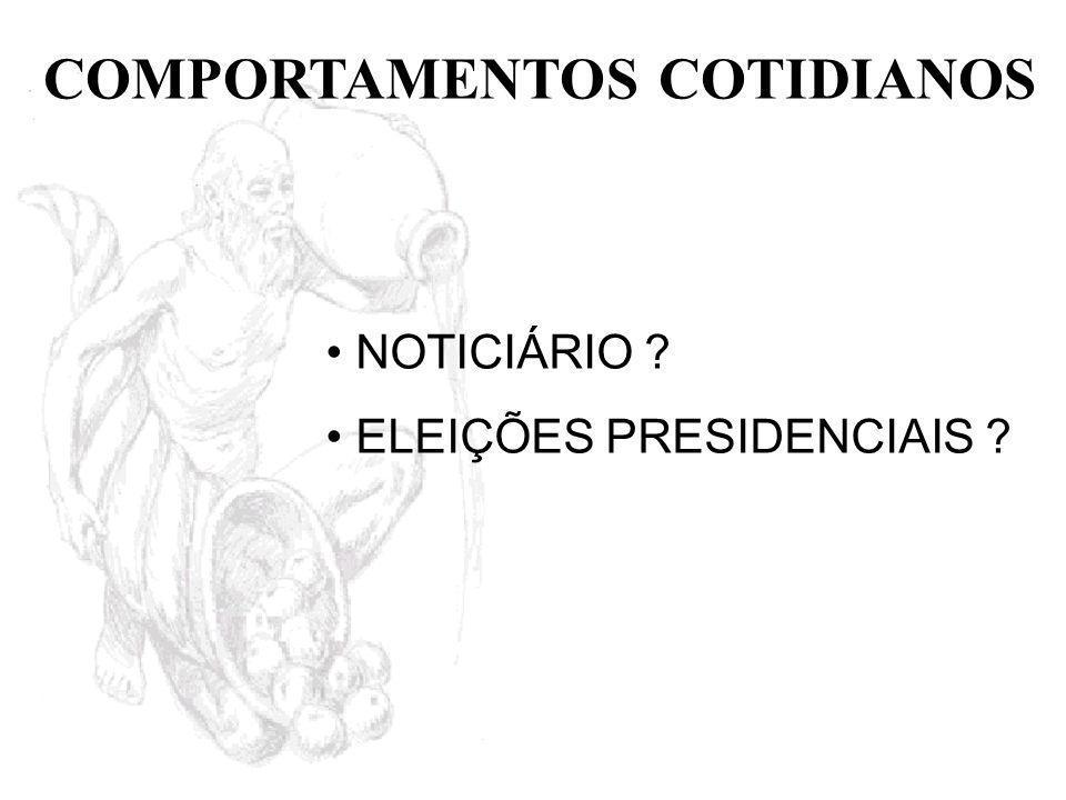 COMPORTAMENTOS COTIDIANOS