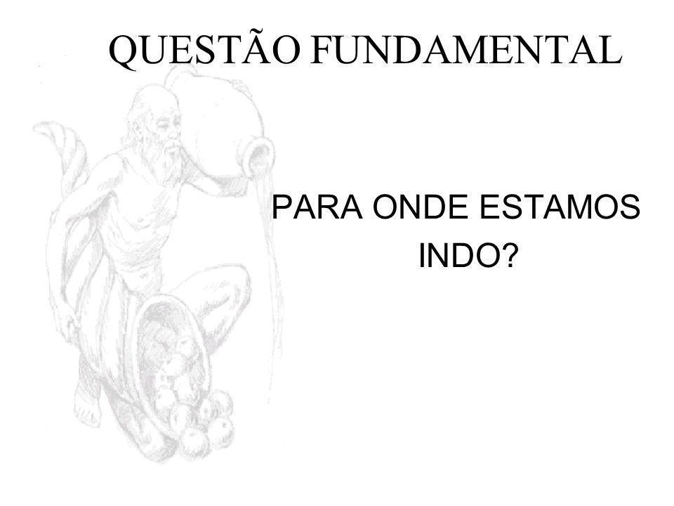 QUESTÃO FUNDAMENTAL PARA ONDE ESTAMOS INDO