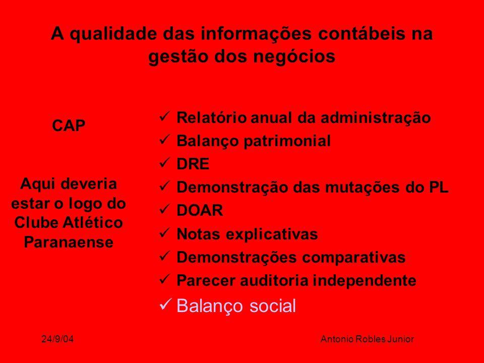 A qualidade das informações contábeis na gestão dos negócios