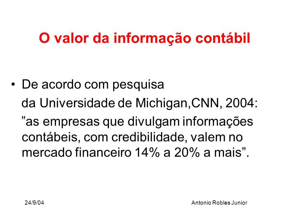O valor da informação contábil