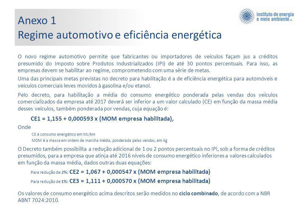 Anexo 1 Regime automotivo e eficiência energética