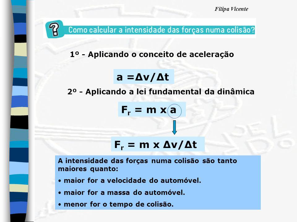 a =∆v/∆t Fr = m x a Fr = m x ∆v/∆t