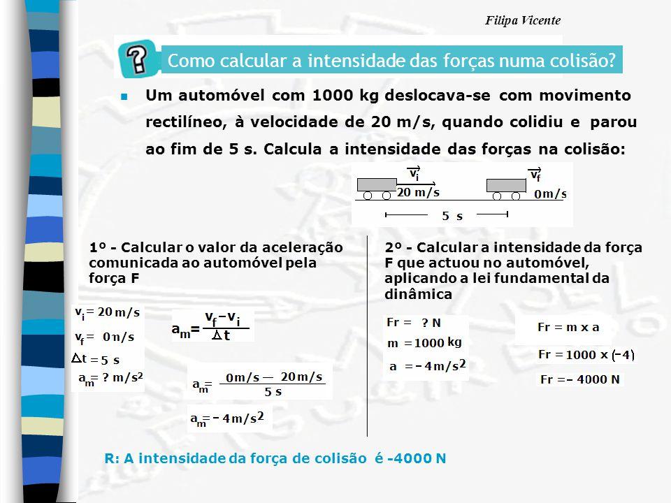Como calcular a intensidade das forças numa colisão