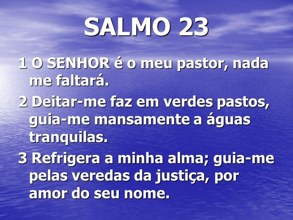 SALMO 23 1 O SENHOR é o meu pastor, nada me faltará.