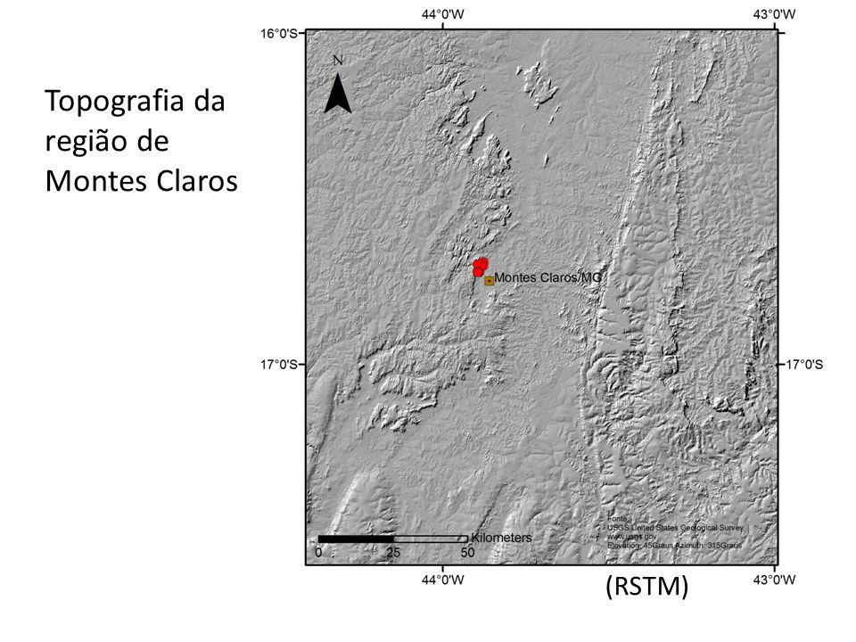 Topografia da região de Montes Claros