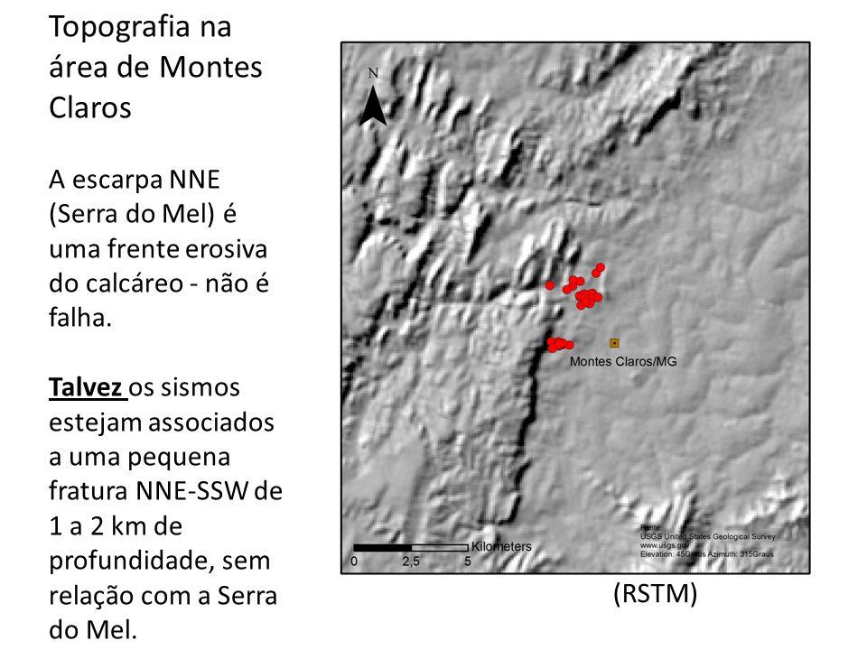 Topografia na área de Montes Claros