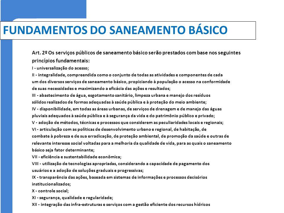 FUNDAMENTOS DO SANEAMENTO BÁSICO