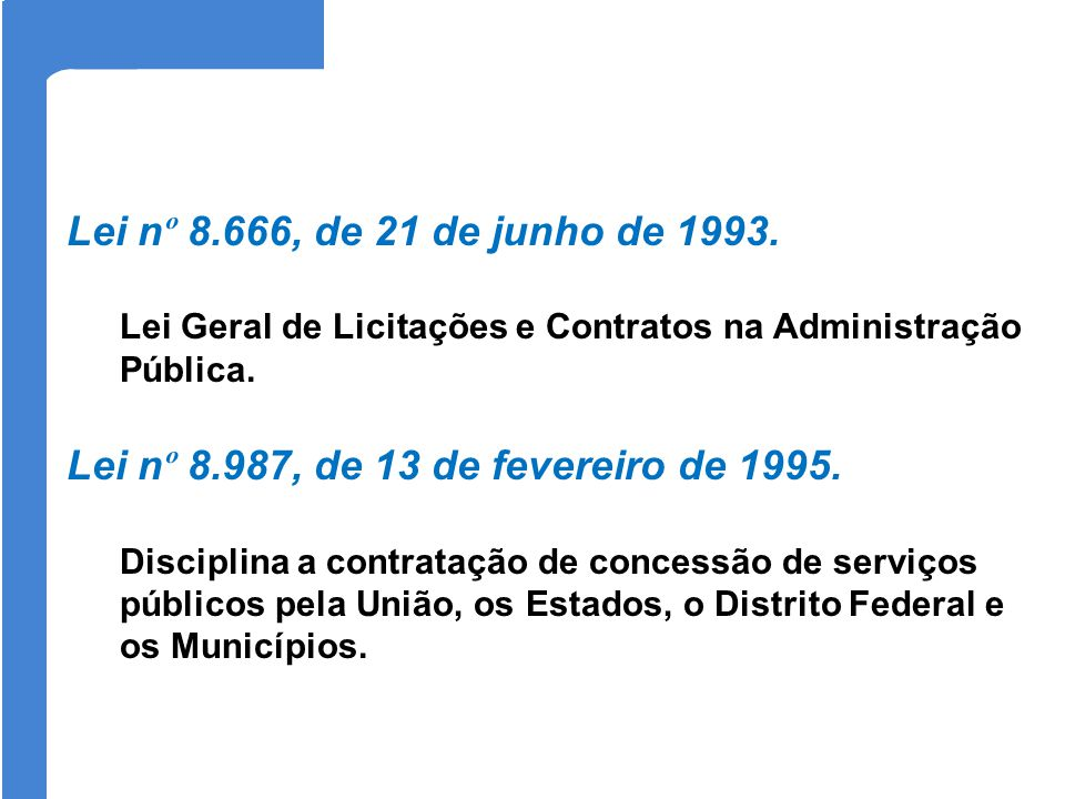 Lei nº 8.987, de 13 de fevereiro de 1995.