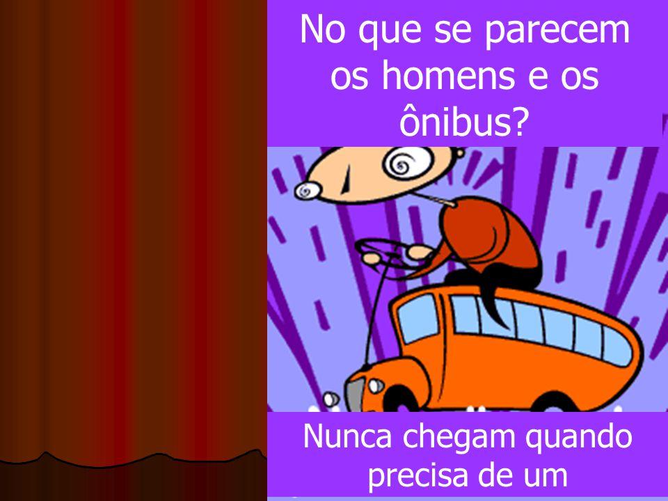 No que se parecem os homens e os ônibus