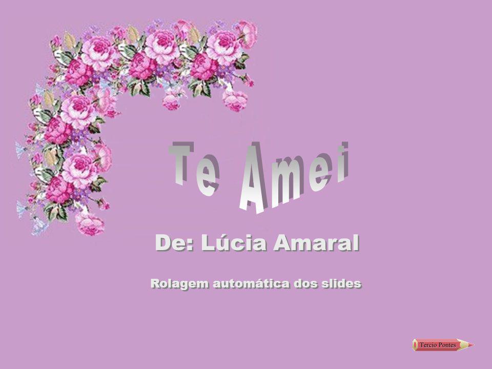 Te Amei De: Lúcia Amaral Rolagem automática dos slides