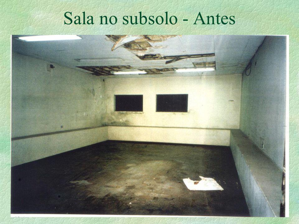 Sala no subsolo - Antes