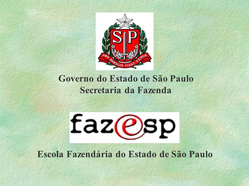 Governo do Estado de São Paulo Secretaria da Fazenda