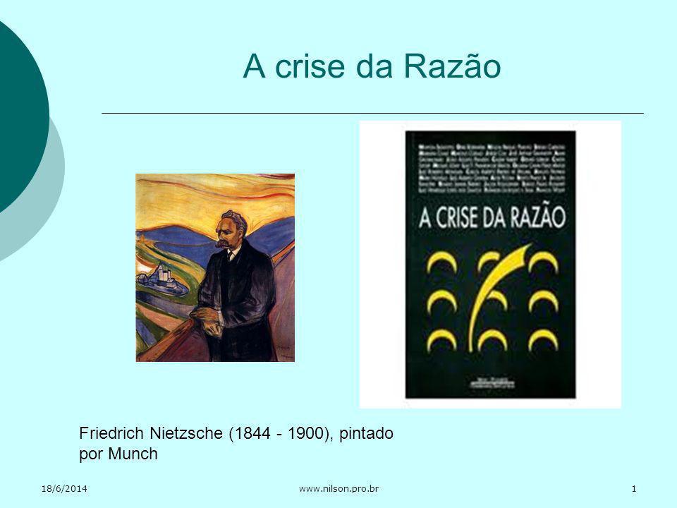 A crise da Razão Friedrich Nietzsche (1844 - 1900), pintado por Munch
