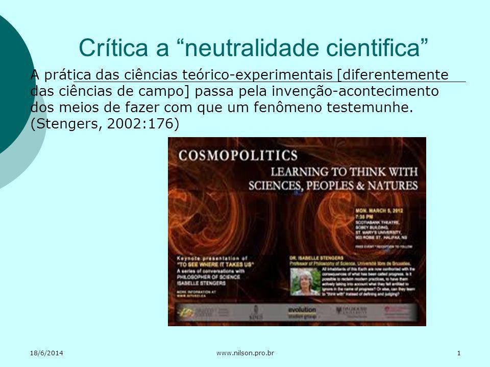 Crítica a neutralidade cientifica