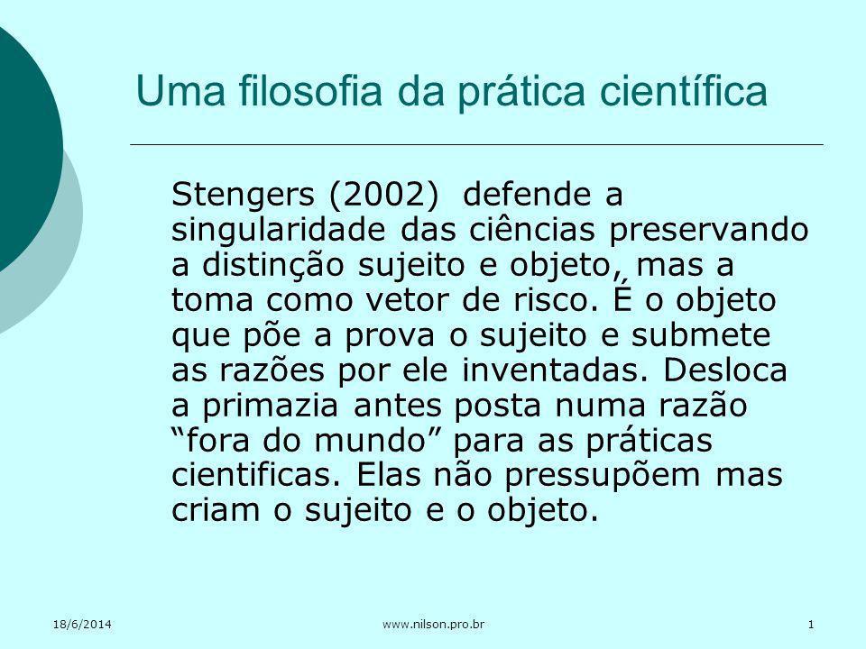 Uma filosofia da prática científica