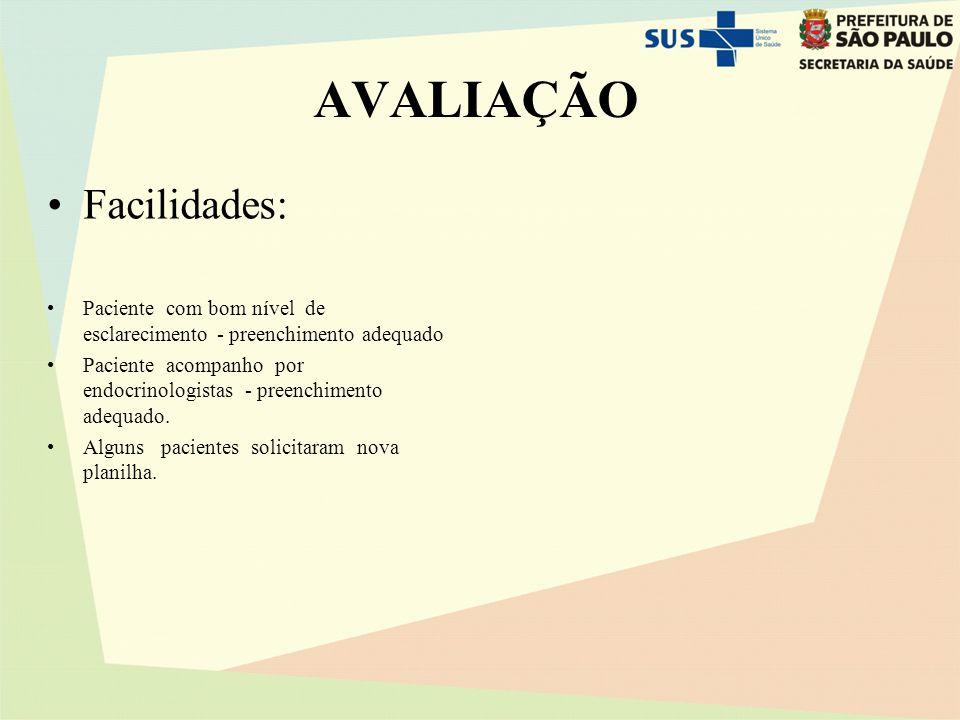 aVALIAÇÃO Facilidades: