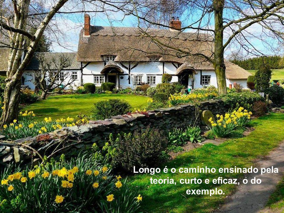 Longo é o caminho ensinado pela teoria, curto e eficaz, o do exemplo.