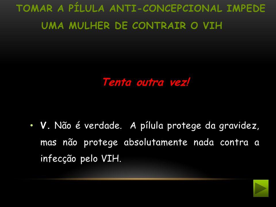 Tomar a pílula anti-concepcional impede uma mulher de contrair o VIH