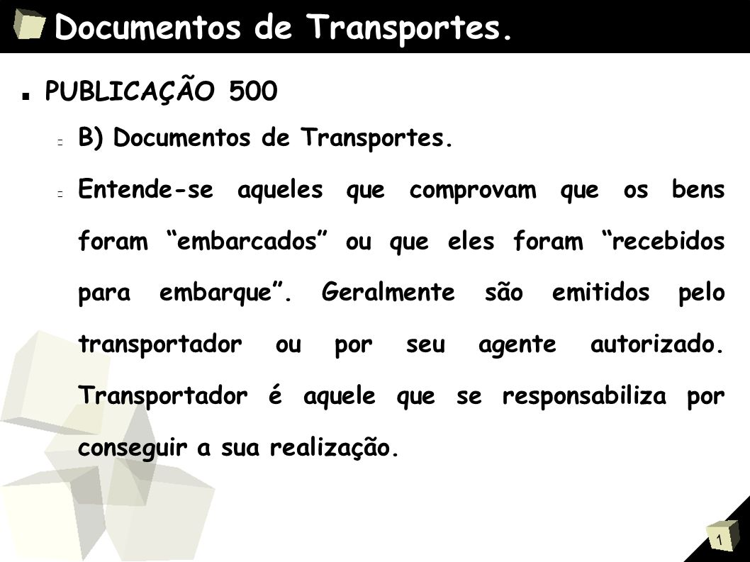 Documentos de Transportes.