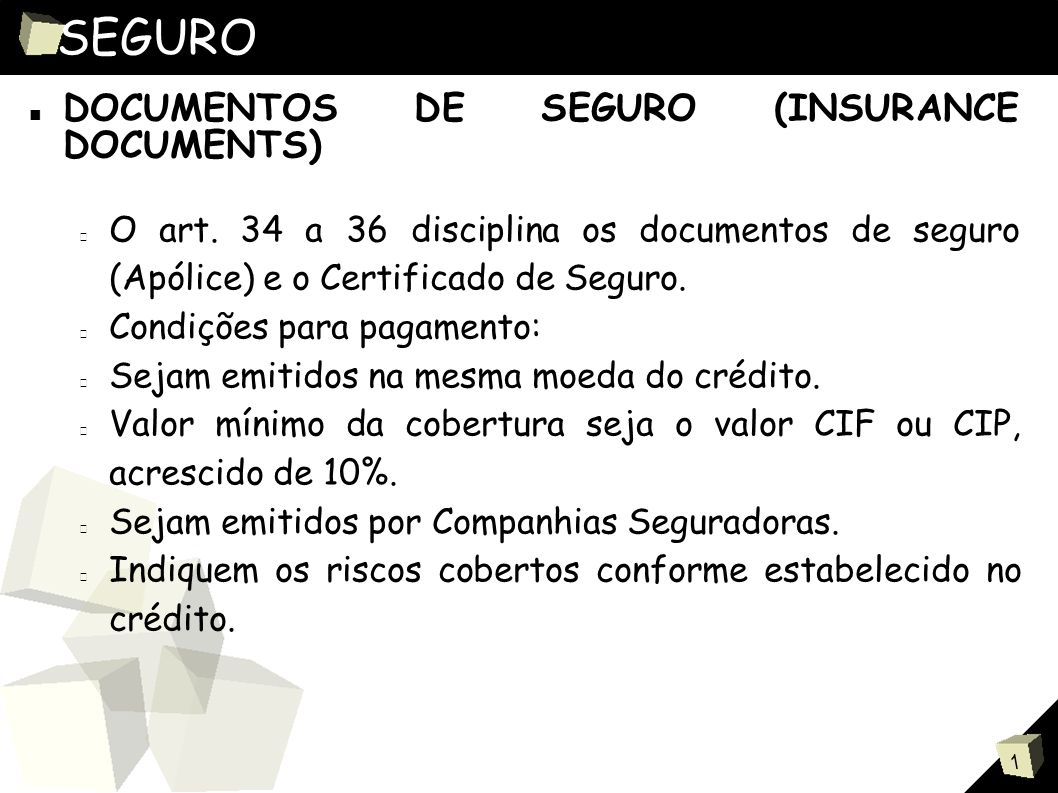 SEGURO DOCUMENTOS DE SEGURO (INSURANCE DOCUMENTS)