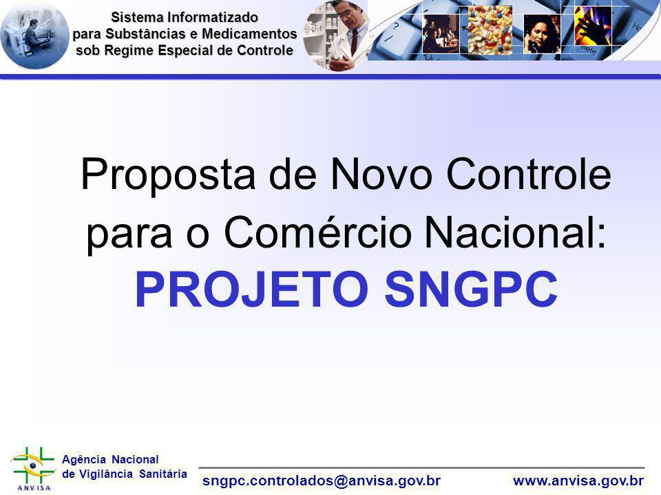 Proposta de Novo Controle para o Comércio Nacional: PROJETO SNGPC