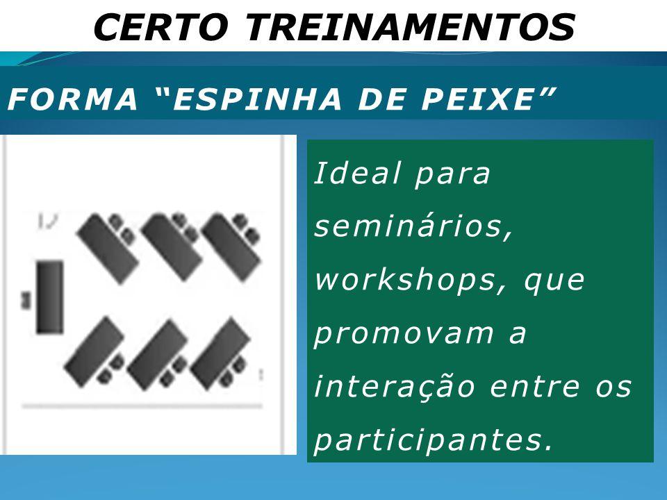 CERTO TREINAMENTOS FORMA ESPINHA DE PEIXE