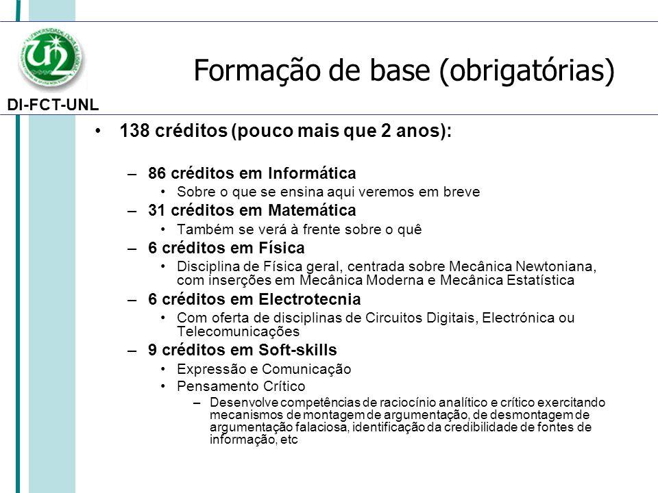 Formação de base (obrigatórias)