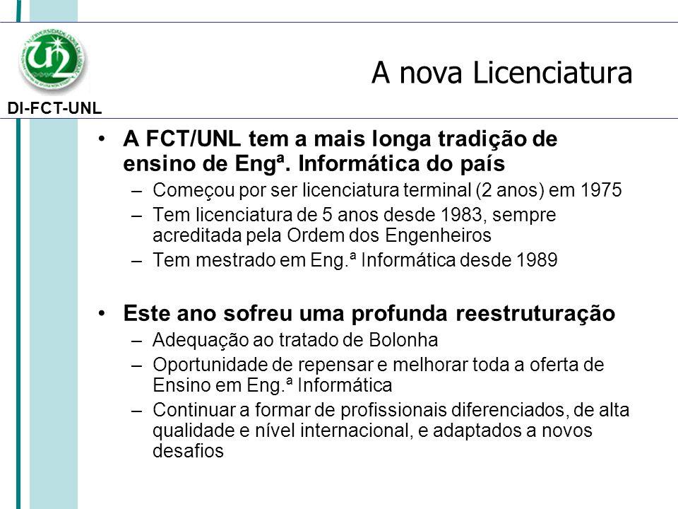 A nova Licenciatura A FCT/UNL tem a mais longa tradição de ensino de Engª. Informática do país.
