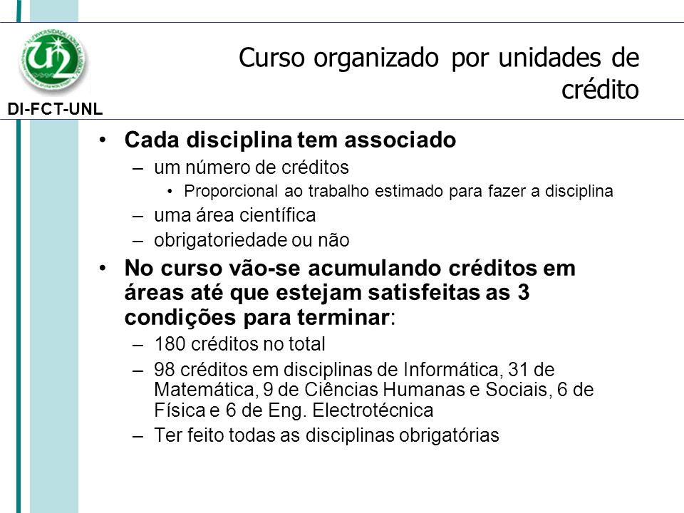 Curso organizado por unidades de crédito