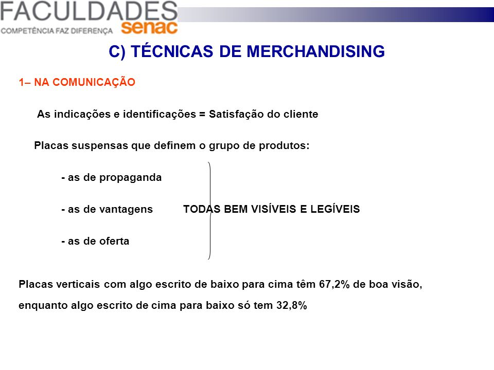 C) TÉCNICAS DE MERCHANDISING